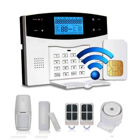 GP05W- Bộ Thiết Bị Chống Trộm Dùng SIM + WIFI + PTSN Báo Qua Điện Thoại