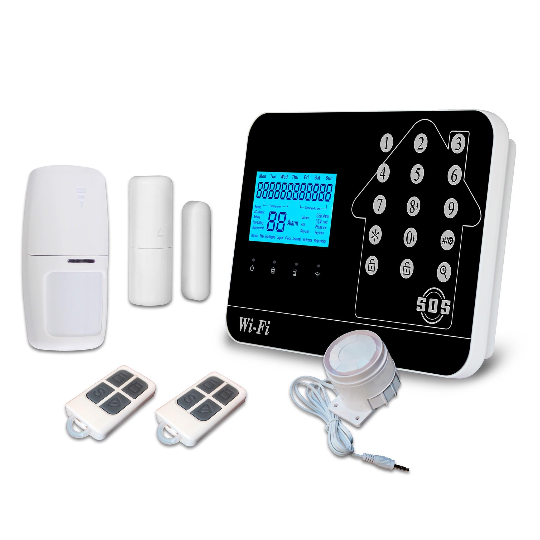 Bộ Báo Động Chống Trộm Cao Cấp GW02 Qua Wifi + Sim GSM