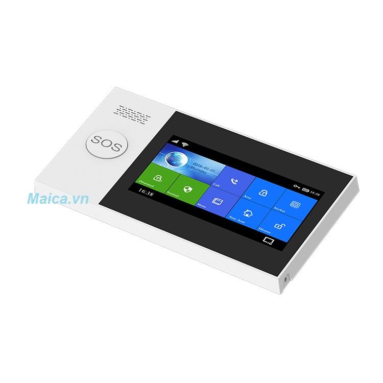 Bộ Báo Động Chống Trộm Qua WIFI + Sim GSM GW05 Cao Cấp
